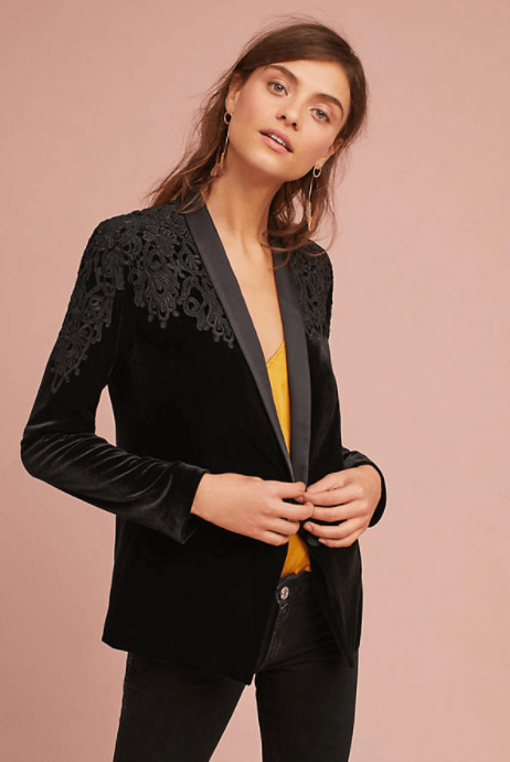 Bailey 44 Embroidered Velvet Blazer $398