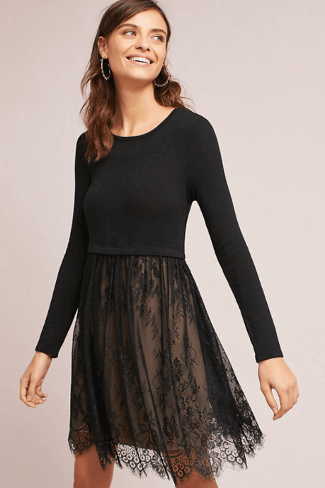 Anthropologie Layered Lacework Dress $168