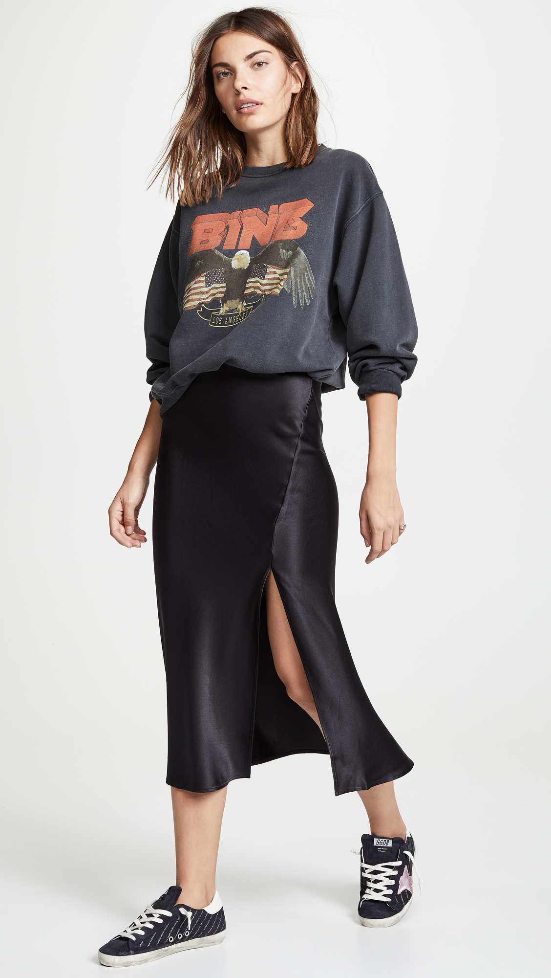 Silk Skirts & Oversized Sweaters -