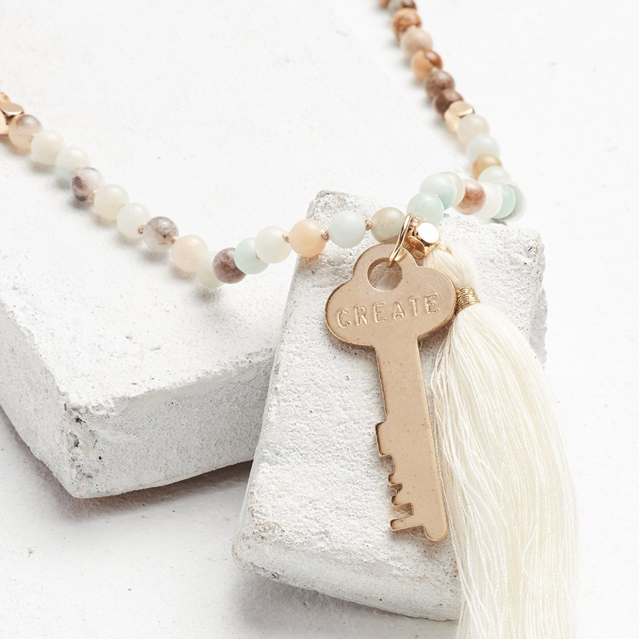 Giving Keys Bead Necklace $48