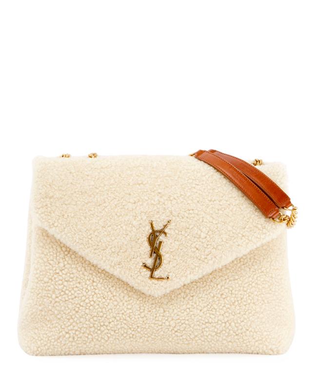 YSL Lou Lou Medium Shearling Shoulder Bag - -Sabel Bezet, Buyer & Stylist