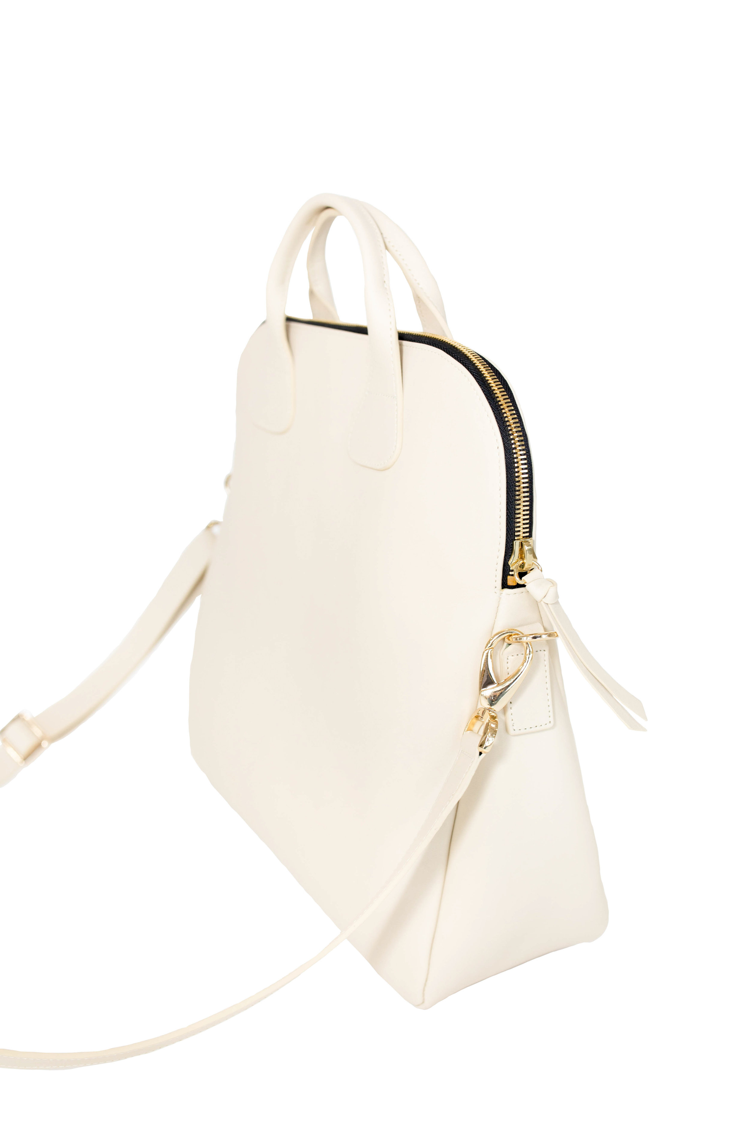 White Leather Bags -