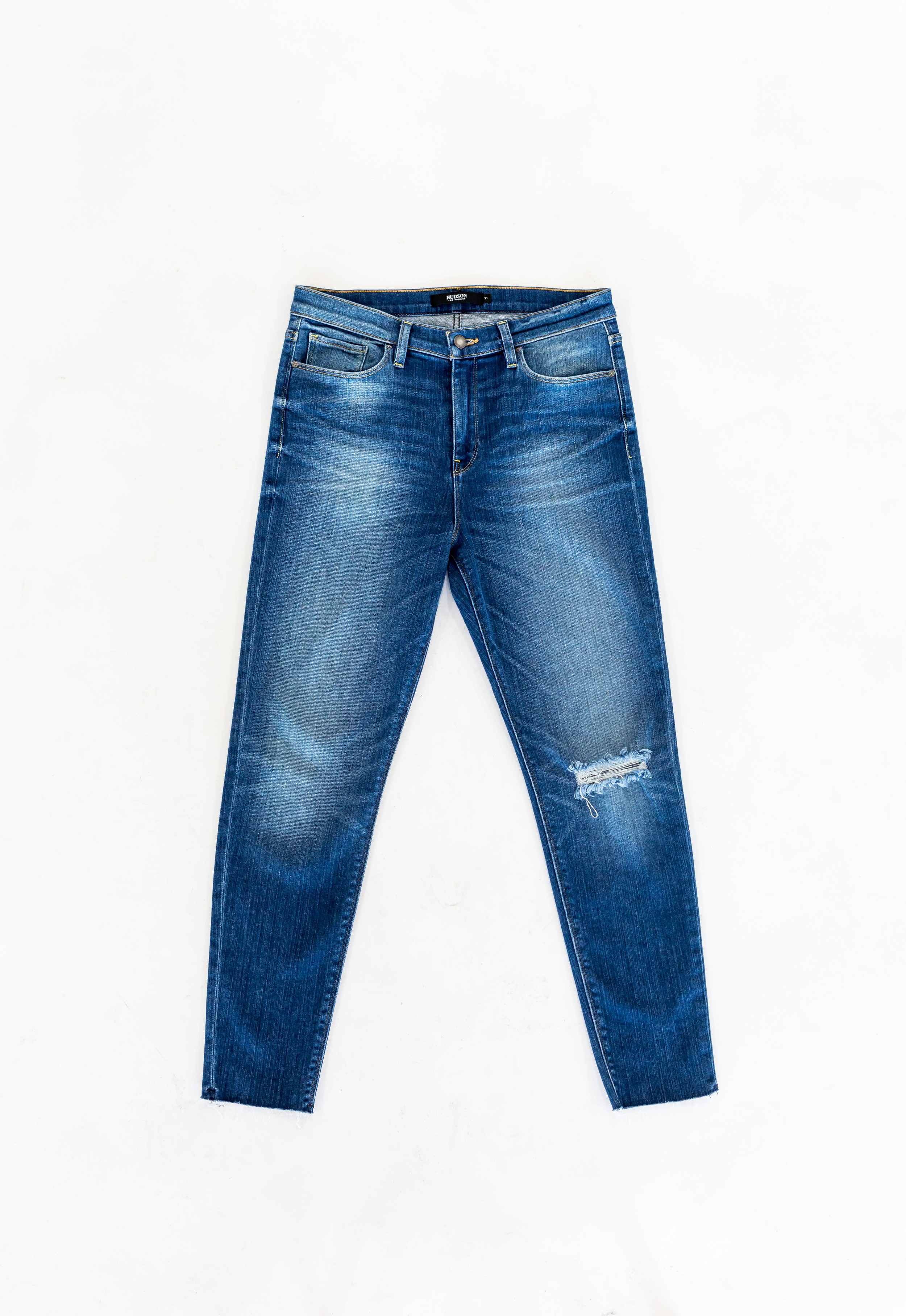 Mid-Rise, Ripped, Ankle Jeans - Hudson Nico