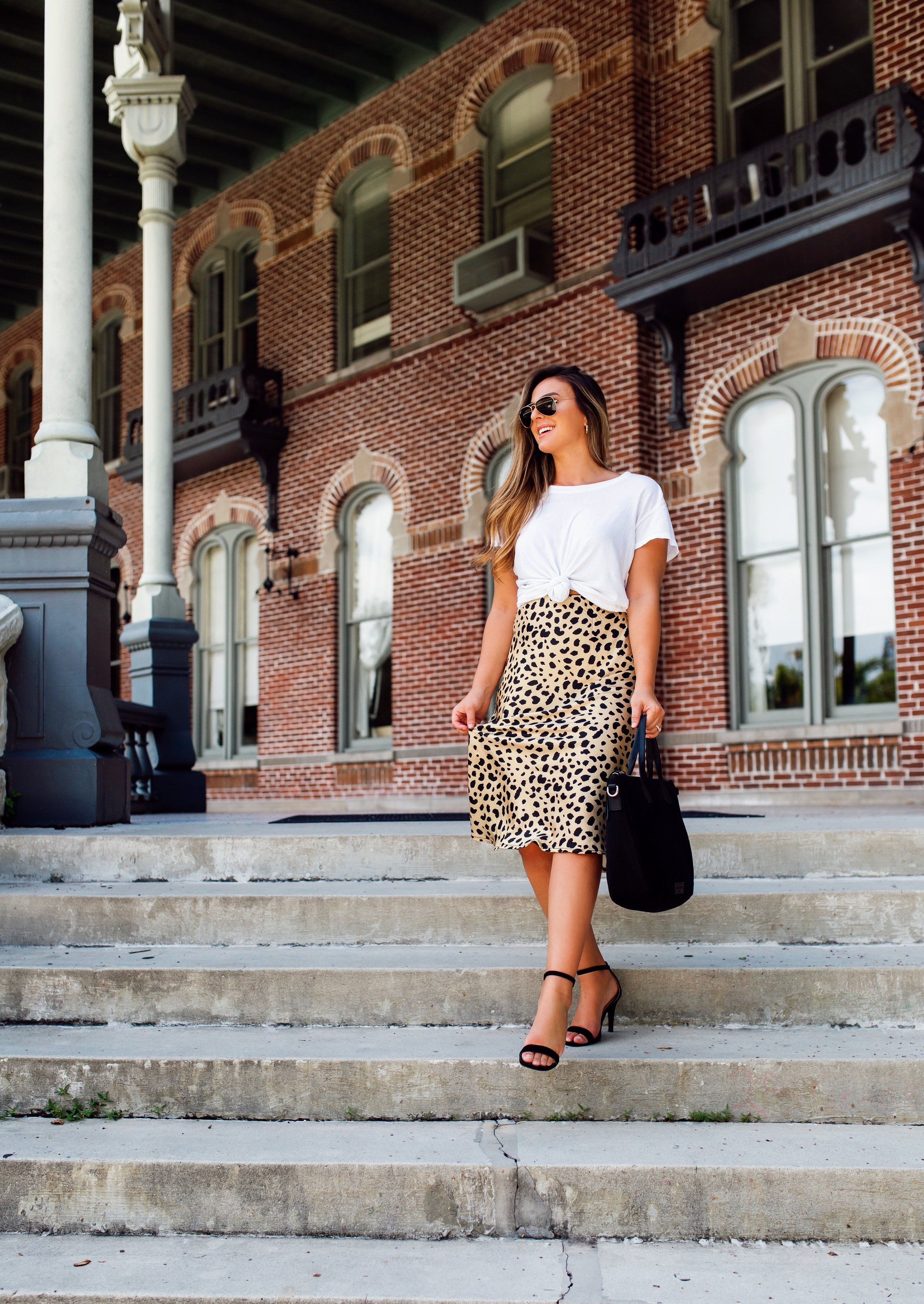 A Flowy Silk Skirt -