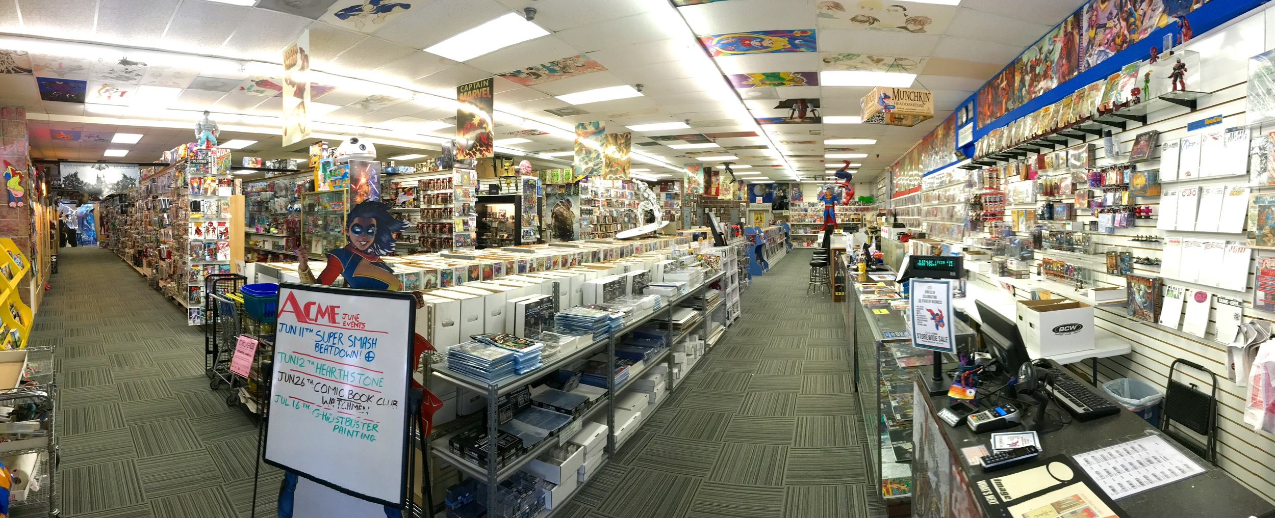On this episode Crummy Gummy & Dr. Loomis visit Acme Superstore, a Comic book/toy shop in Central Florida that has been around for over 30 years! The guys interview owner Josh Dinkins to disect what it takes to run a successful comic book shop. We also find out what happened to Dr. Loomis's childhood Transformer toys...dun dun dun.