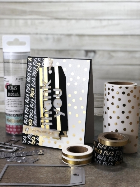 """""""Patterned paper"""" made from washi tape!"""