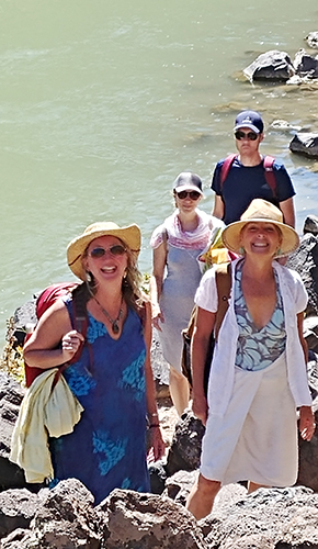 Hiking along the Rio Grande.