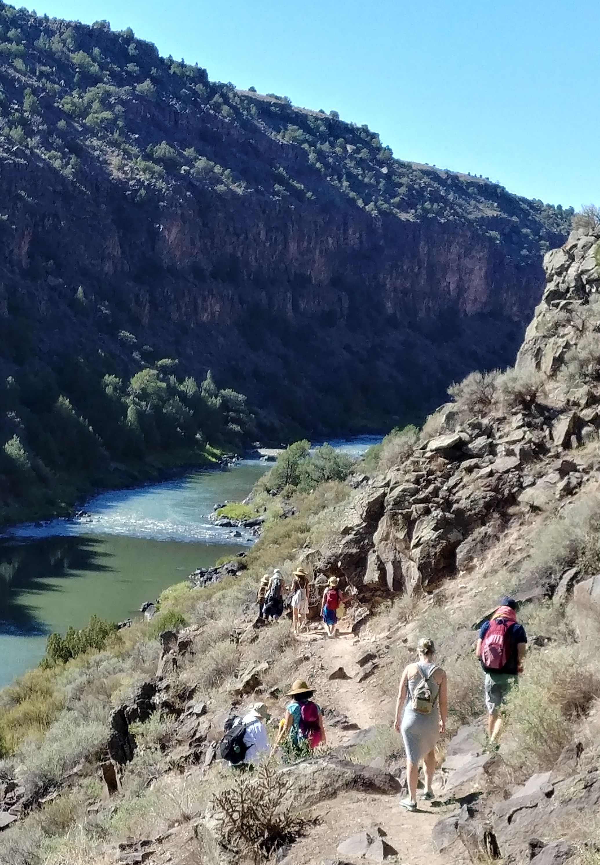Walking down to the Rio Grande to work with the Devas and the guardians of the land.