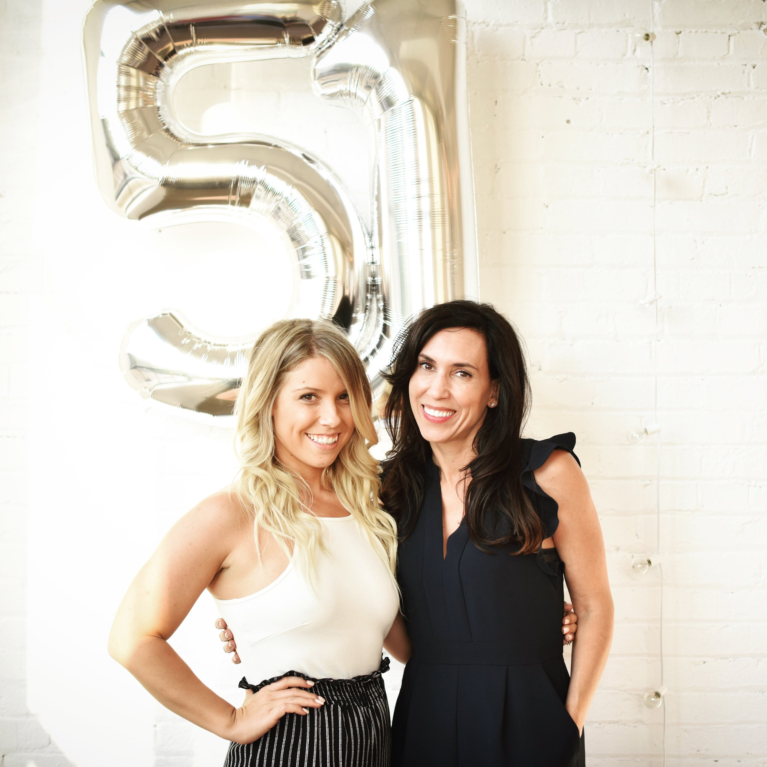 Hi! We're Chelsie Smith + Jen Brown, co-owners of Flat 51. -