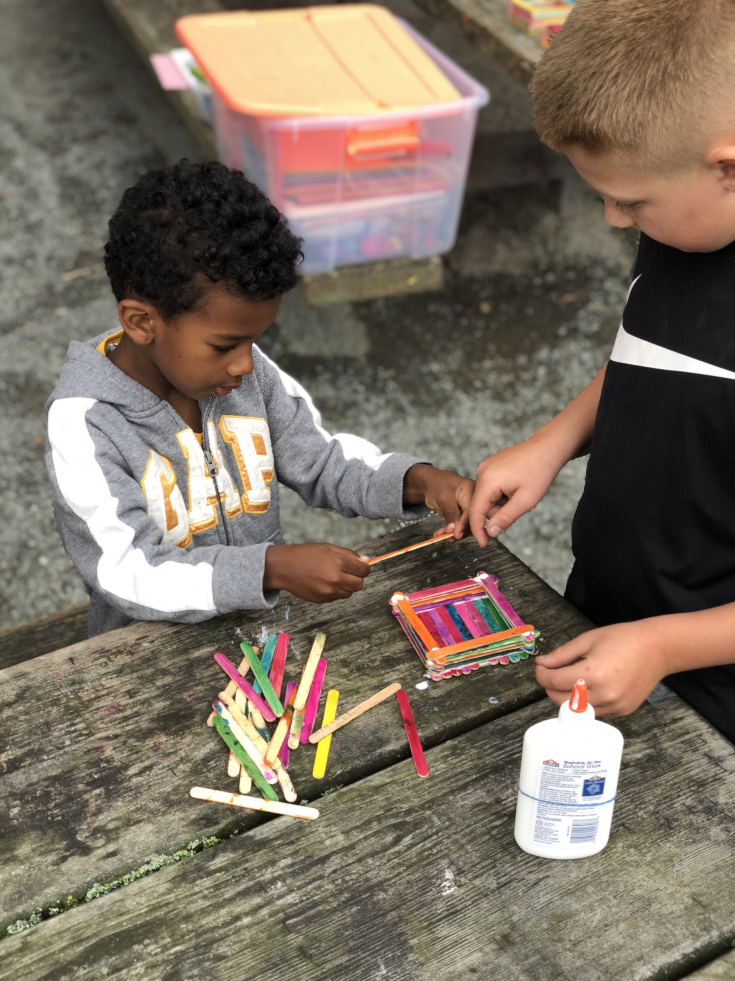 and ARTS - Daily art projects that express our creativity and are practical, such as treasure boxes, clocks and much more!