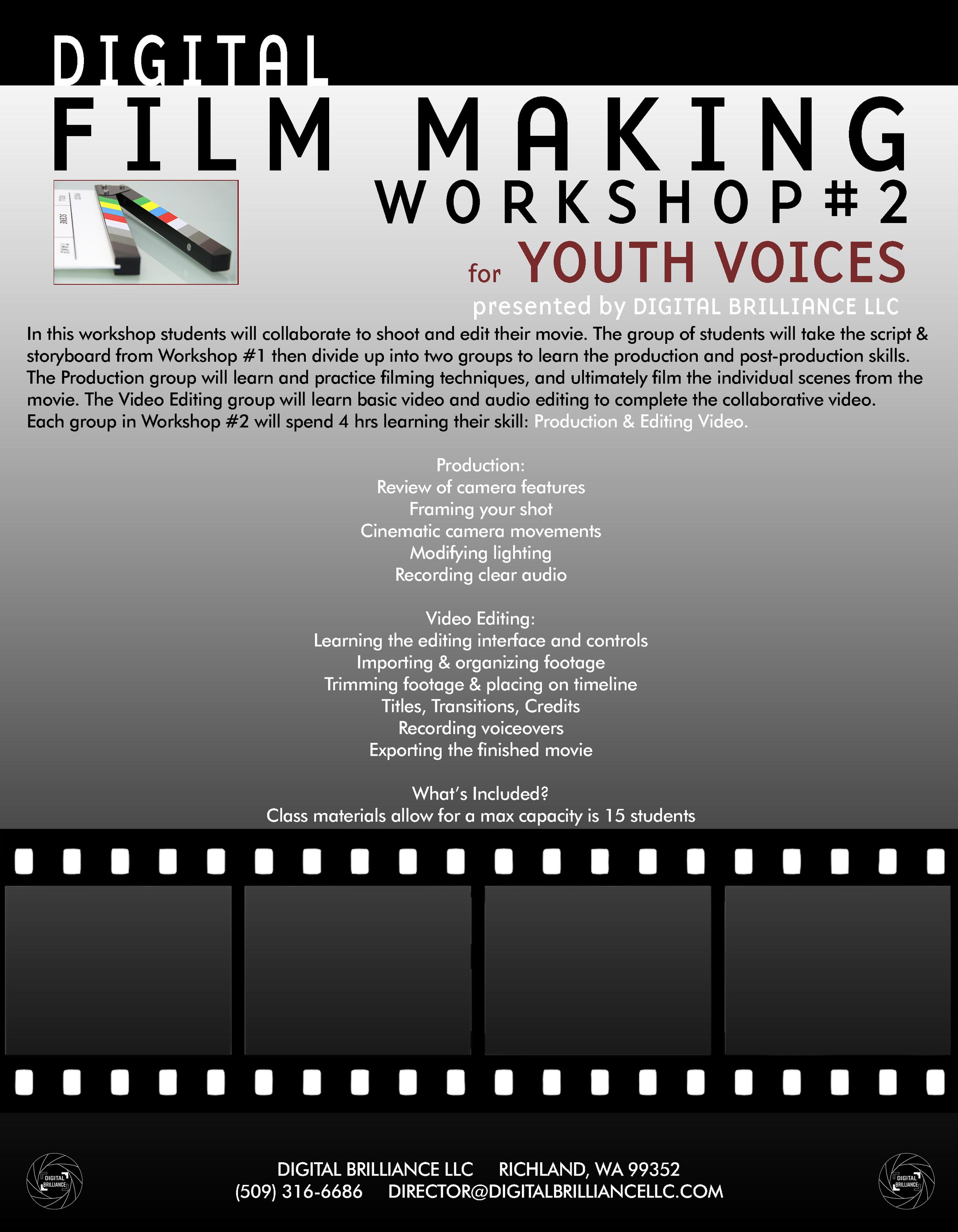 Flyer for workshop #2 - Click to enlarge