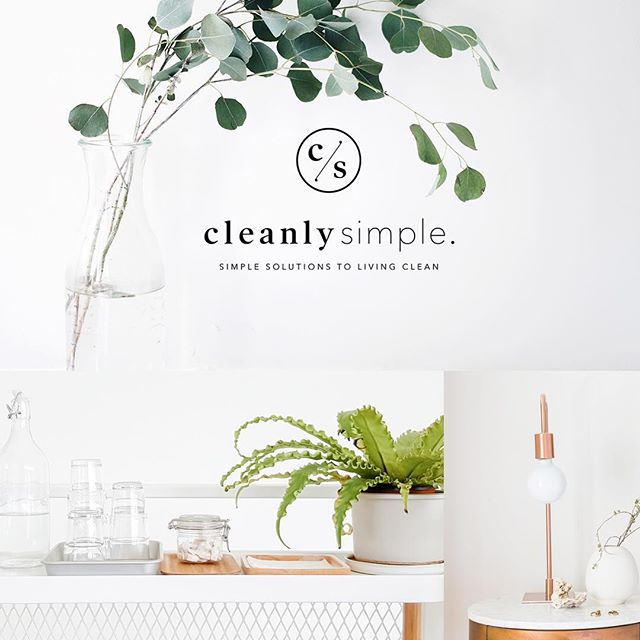 Clean + simple for @cleanlysimple, only two of our favorite things.  #knockoutbranding designed by our ever so talented Sam Kraus.