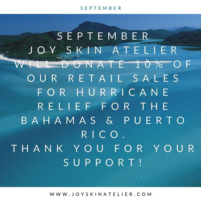 SEPTEMBER JSA WILL DONATE 10% OF OUR RETAIL SALES TO HURRICANE RELIEF FOR THE ISLANDS OF BAHAMAS 🇧🇸 & 🇵🇷 PUERTO RICO.  @pauldurkee  #hurricanerelief #supportsmallnusiness#bethanyfrankel #supportsmallbusiness