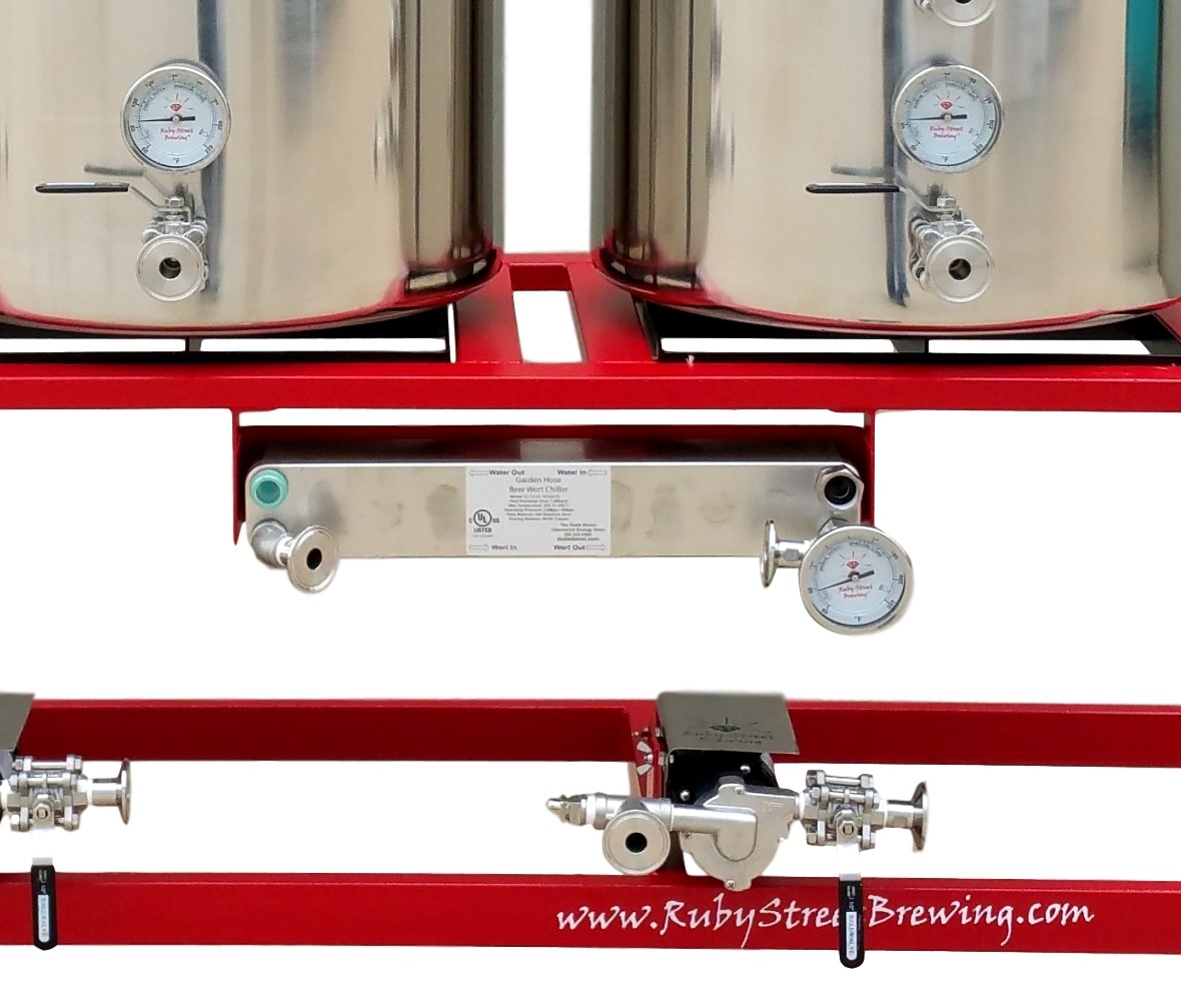 Ruby Street Brewery, Alpha Ruby II and Fusion Plate Chiller Mount