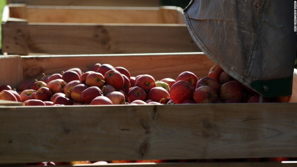 Photos:The 2017 'Dirty Dozen'  Last year, apples came in at No. 2 after having been a list leader for the past five years. This year, apples fell to the fourth spot on the list.