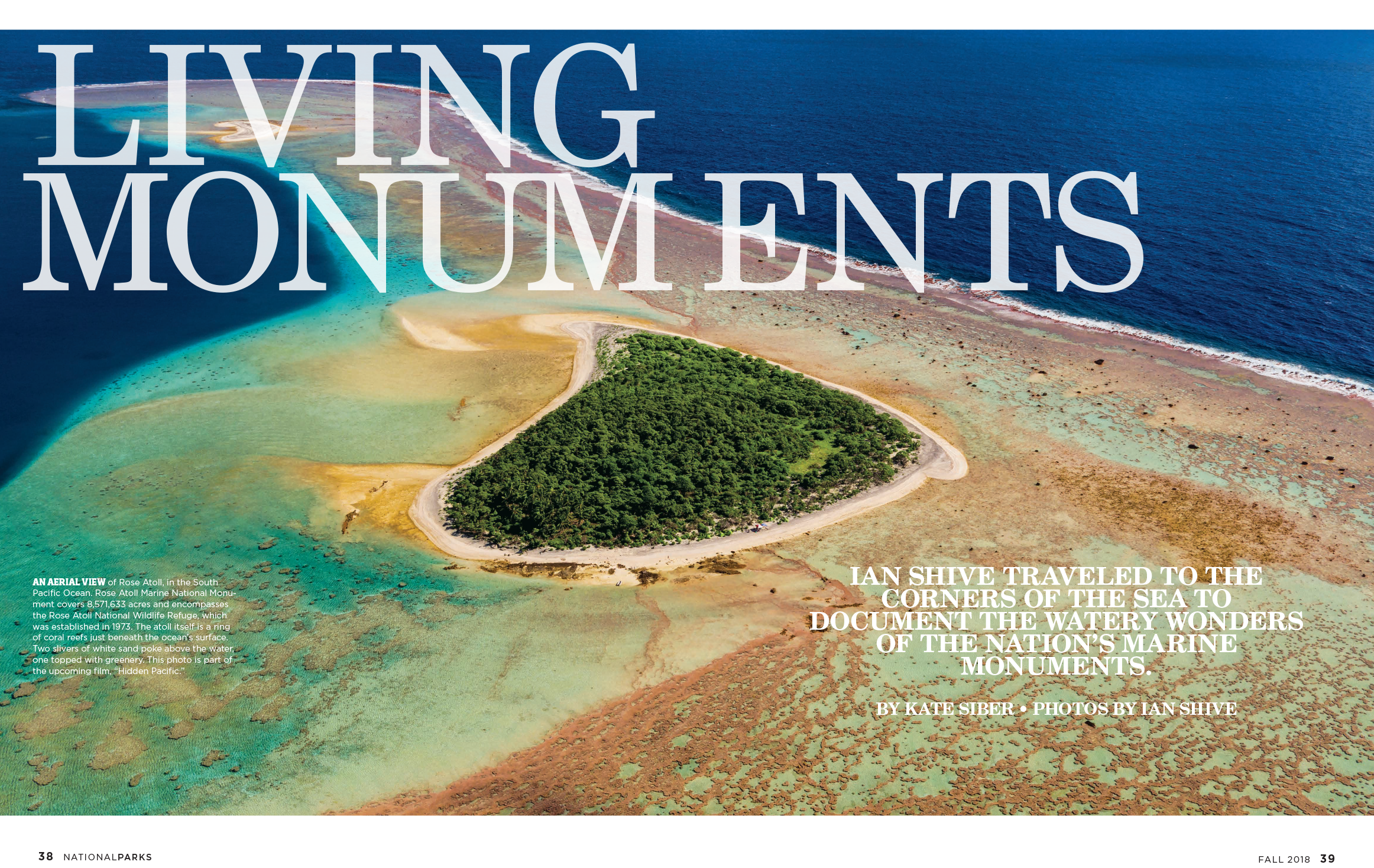 National Parks Conservation Association opening spread in Fall 2018 issue of National Parks magazine.