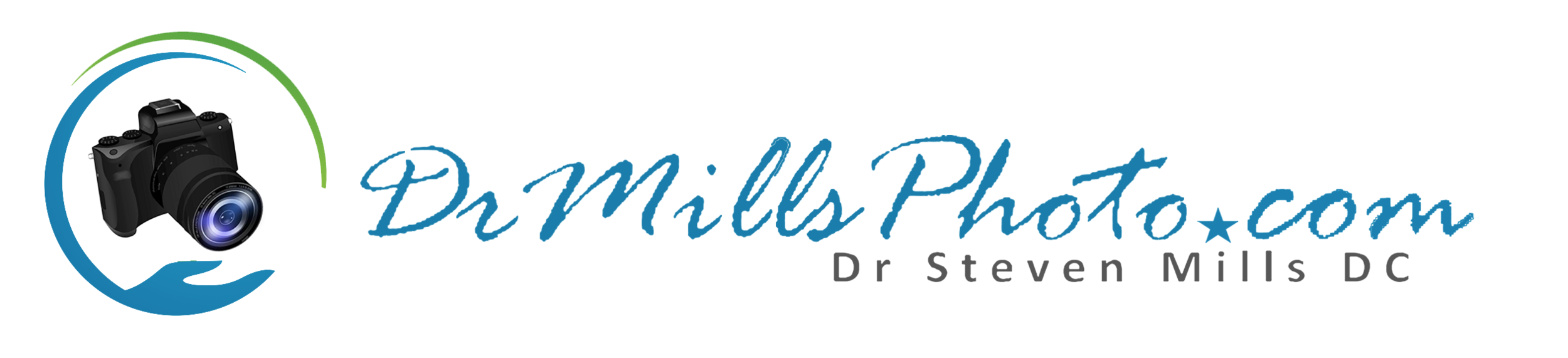 AAAAA - DrMillsPHOTOCom - LOGO - WITH Text - White - rev 6-4-19.png