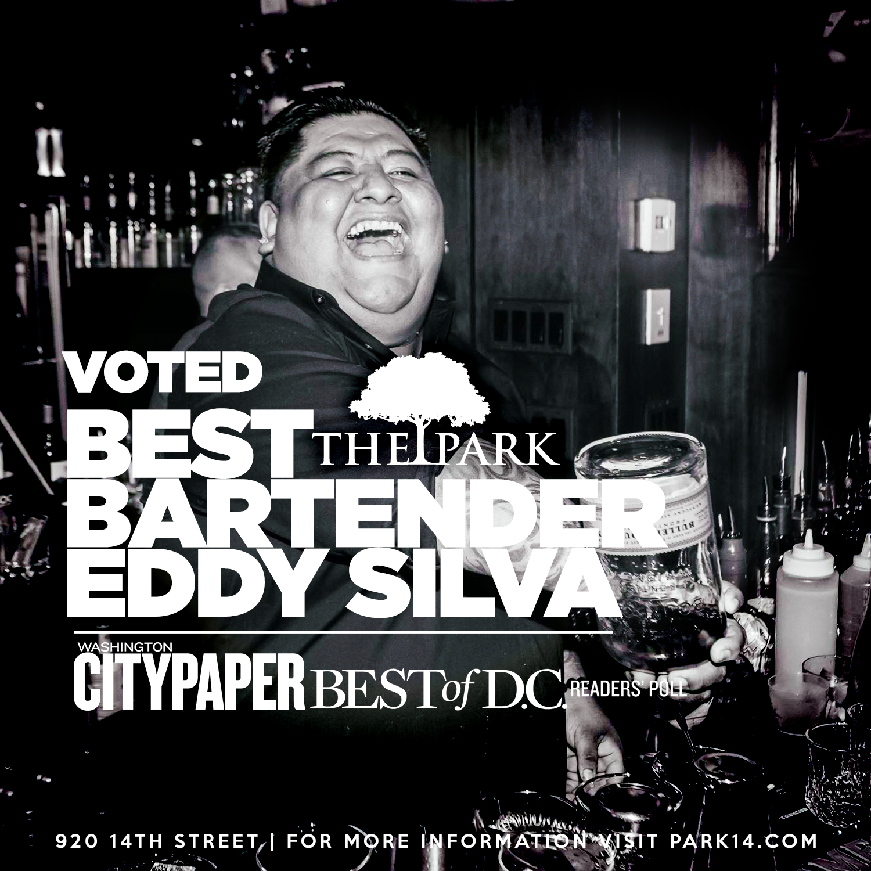 Voted Best Bartender - Our very own Bartender Eddy Silva, Washington City Paper Best of D.C.