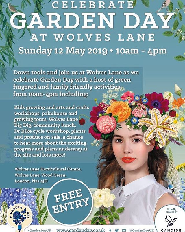 GARDEN DAY!! SUNDAY 12TH MAY AT WOLVES LANE  Our site is putting on a day of free tours, workshops and delicious veggie / vegan food to celebrate Garden Day 💚 There's something for everyone so check out the list below 💖 PLUS we'll be selling tea and cake in the cafe through out the day and plants for you to take home with you. Come and see our palm house while you're at it: YES THAT'S RIGHT WE HAVE A PALM HOUSE!! 🌴We're raising money for much needed site works & maintenance. Please bring cash.  Roger our resident bike guru is going to be running his popular cycle surgery - bring your ailing bike in and hopefully roger can get you peddling again soon 🚲  GARDEN DAY ROUGH SCHEDULE! ⬇️⬇️⬇️ 💚10am - 12pm Wolves Lane Mum's Crew drop in kid's first gardening workshop teaching seed sowing & more. 💚11am - 1pm @edible_londonuk will be conducting tours of their insanely verdant glasshouse on sustainable farming and how to grow veg with an organic approach. 💚12pm Our local flower friends @whispersandsnippets are hosting a flower crown workshop using WLFC & British grown flowers. It's a free first come first served workshop! Please arrive at 11:30am to put your name down. Spaces v limited! 💚12pm WLFC TOUR @wolveslaneflowercompany will be walking visitors round our external flower plots and 40m glasshouse. We'll be talking about the trials and tribulations of growing seasonal and sustainable flowers for cutting without chemicals...and how to stay sane when the aphids attack 🐜 🐜🐜🐜🐜🐜💚1:30pm PAY WHAT YOU CAN COMMUNITY VEGAN LUNCH! We can't feed the 5000 even though we'd like to so if you miss out on lunch there will be tea and cake on sale throughout the day 🍰 Please bring cash. 💚2 - 4pm NATURAL CRAFTY KIDS: A drop in session including veg stamps, leaf printing, collage with seeds, face painting, sand play and more! 💚2:30 - 4pm THE BIG DIG  If you fancy getting a bit dirty we'll be sprucing up some of the big planters at the front and tacking the weeds in the front plot which is dest