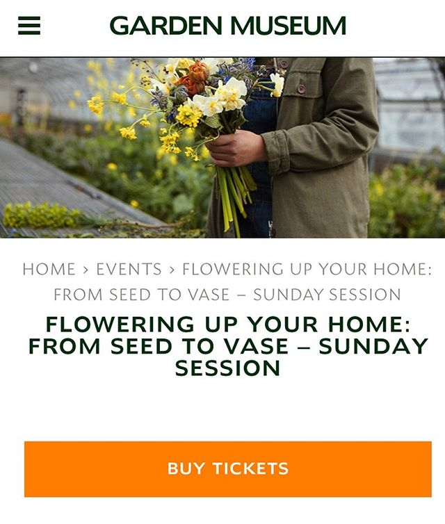 FLOWERING UP YOUR HOME FROM SEED TO VASE - We're very excited to announce that we'll be running 2 x one day workshops @gardenmuseum as part of #britishflowersweek 🌈 They'll run on Saturday 15th & Sunday 16th June and will be a flower filled day all about the basics of growing your own flowers at home in whichever space you have available: what to grow; how to grow. Followed by how to cut and arrange into a vase that you'll take home and enjoy. You'll also jump on the tube with a tray of seeds, enjoy a lovely lunch and get access to the museum to see the 2019 British Flowers Week installations which will be up. We can't wait to see you there. Link in our bio ⬆️