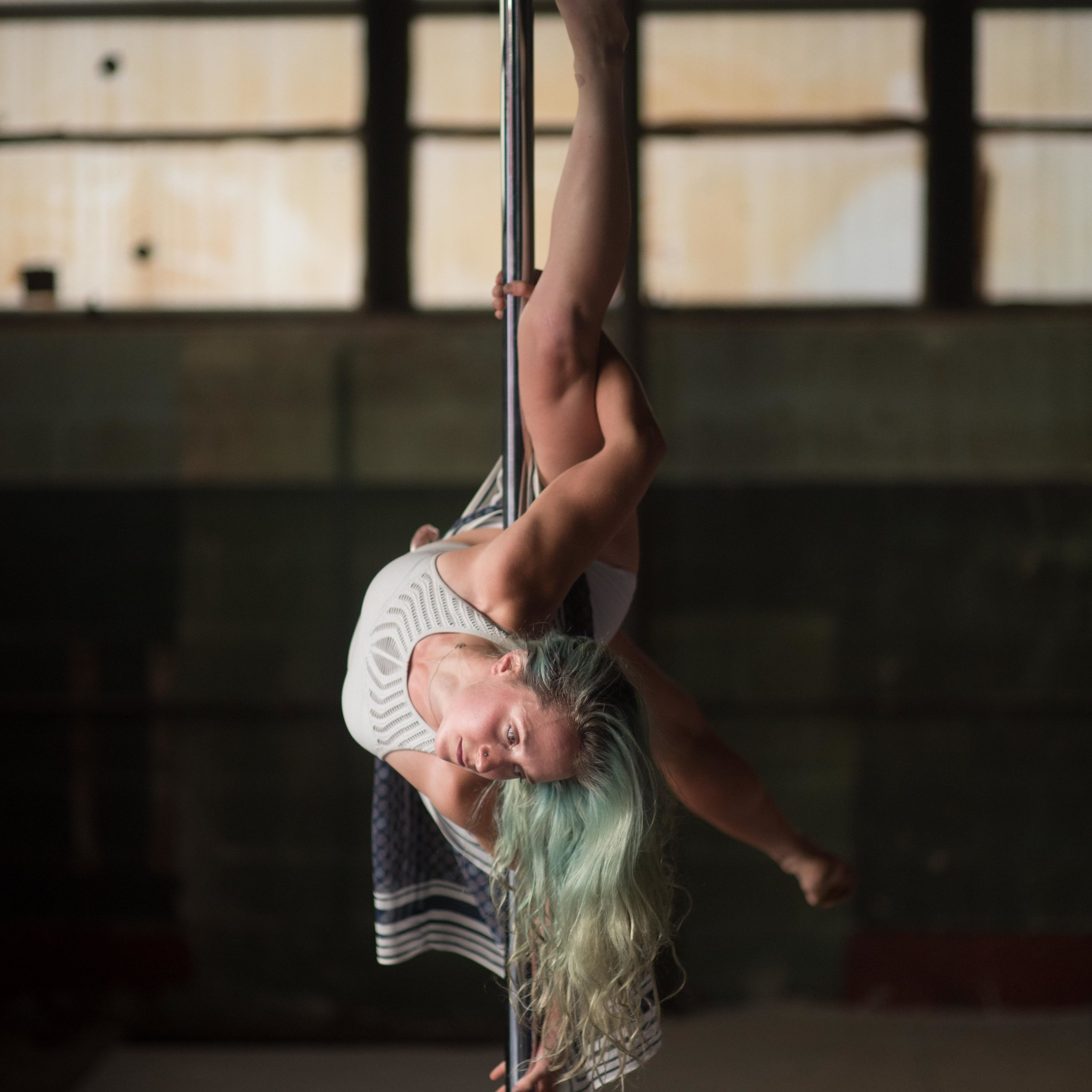 Sarah Caputi - POLE DANCE INSTRUCTORACRO YOGA, DANCE ACRO, & STANDING ACROBATICS INSTRUCTORSarah began learning pole dance in 2014. Her movement repertoire has since expanded to include yoga, acro yoga, partner acrobatics, dance acrobatics, aerial silks, contact improvisation, and more.Sarah is an X-Pert X-Pole certified pole instructor and has been teaching since 2016. She has trained under renowned teachers such as Marion Crampe, Colleen Jolly, Sergia Louise Anderson, Marlow Fisken, Natasha Wang, and others. She has also sought training for partner acrobatics and acro dance from Niko Douwes, Hobs Hobotus, and Elio Blox. She has been to LIFT School Of Acrobatics Advanced Immersion, Pitch Catch Circus H2H Intensive 2018, the Icarian Intensive with Acro Bear and Squirrel.