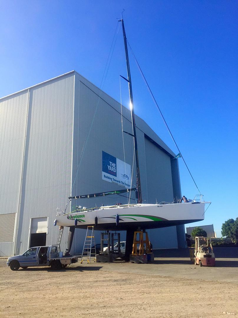 "Racing Yacht ""Dekadence"", an entrant in multiple Sydney to Hobart races"