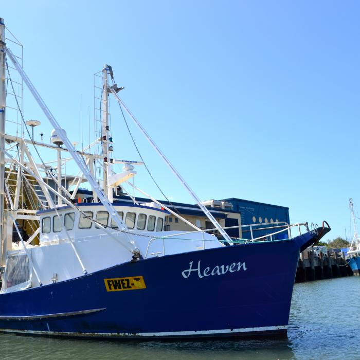 """Heaven"" a steel prawn trawler from Mooloolaba"