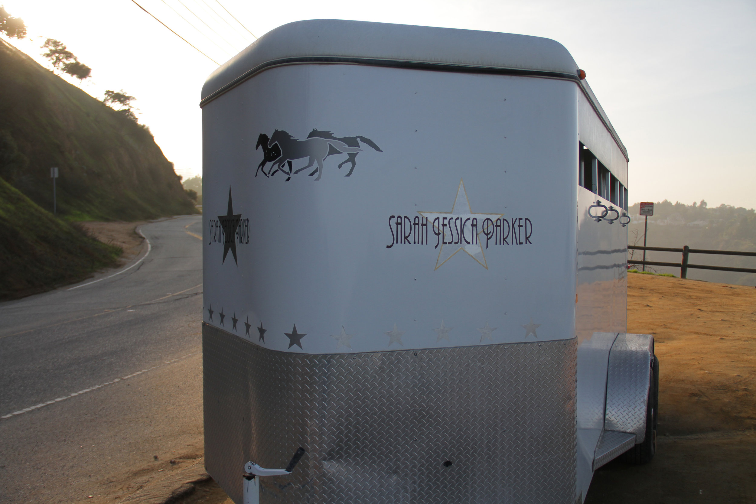 Sarah Jessica Parker Movie Star Horse Trailer
