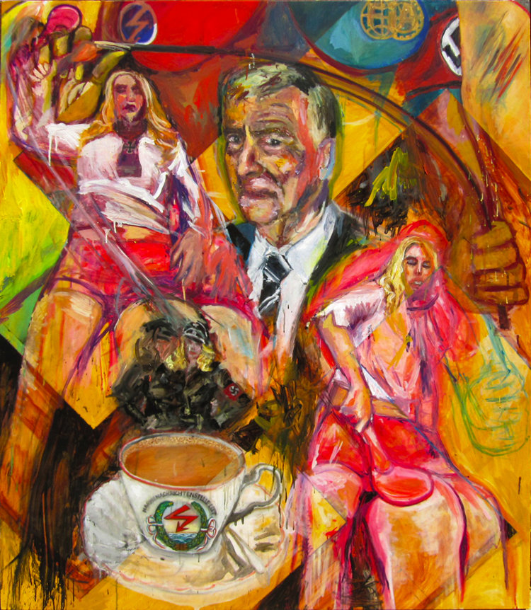 Max Mosley: Fast Cars, Fast Women  Oil on canvas | 62 x 55 inches | 2010
