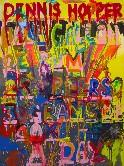 Dennis Hopper  Oil and enamel on paper | 26 x 36 inches | 2008