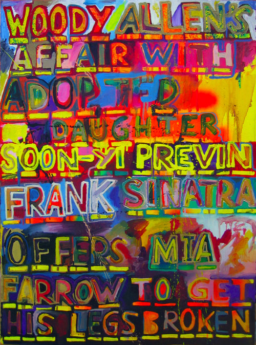 Woody Allen  Oil and enamel on paper | 26 x 36 inches | 2008