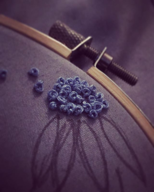 the french knot • • • • • • • • #embroidery #embroideryart #embroidered #thread #stitch #stitchfix #needle #fiberart #fabric #flowers #flowerstagram #oregon #oregonian #pnw #pacificnorthwest #spring