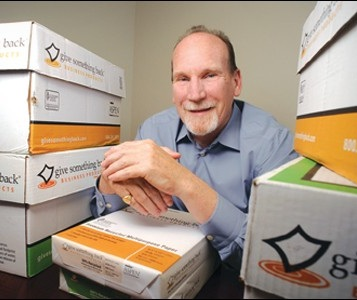 - Michael Hannigan is President and Co-Founder of Give Something Back Office Supplies, California's largest independent business-to-business office supply company. After a successful career in the office equipment industry, he co-founded Give Something Back (GSB) in 1991. Modeled on Newman's Own food company, GSB's profits are donated to non-profit groups selected by its customers and employees. The company is a Certified and Founding B-Corporation, an Alameda County Certified Green Business, and converted to a Benefit Corporation under California's new corporate legal framework. GSB has garnered dozens of awards including Corporate Grant maker of the Year, U.S. Small Business Administration Business of the Year, one of the 10 most generous companies in America.