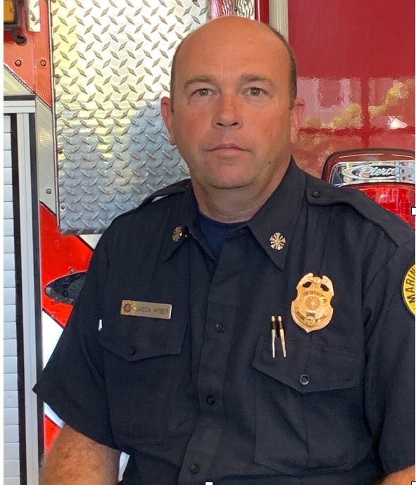 - Marin County Fire Chief Jason WeberChief Jason Weber has provided firefighting skill and leadership to Marin for over 24 years. Starting as Seasonal Firefighter, he is now Chief of both Marin County and Ross Valley Fire Departments, works with CAL-Fire and the National Park Service, and is leading the Marin Wildfire Prevention & Mitigation Initiative. He lives in Novato with his wife and four kids.