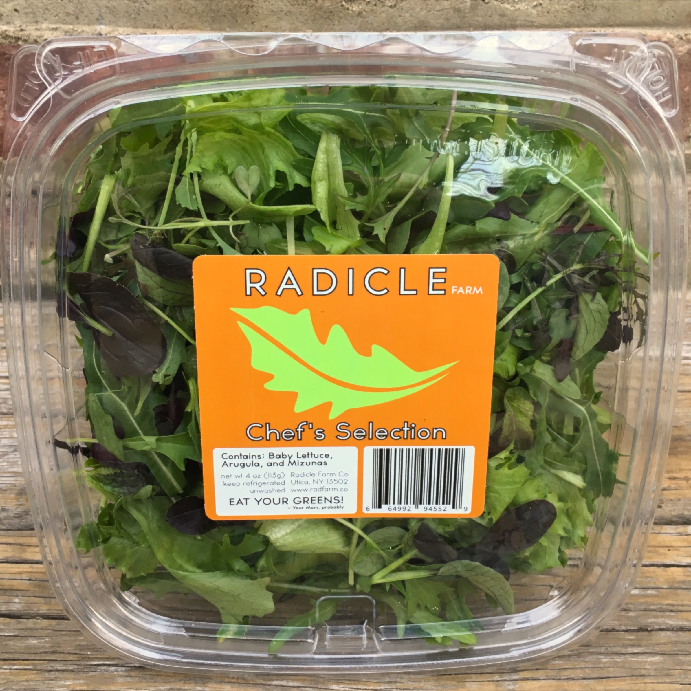 CHEF'S SELECTION - Red & Green Romaine, Arugula, Mizunas, Mustard Greens