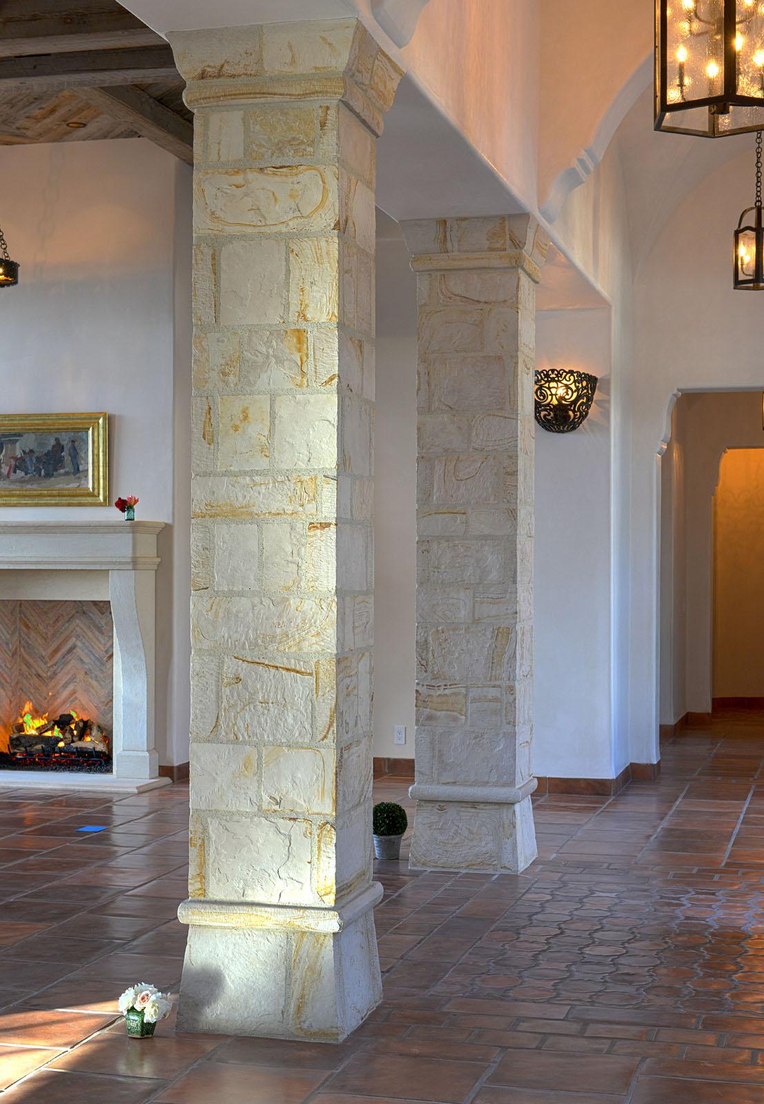 Bertelsen Residence 11 - Entry gallery stone columns and Spanish arches.jpg