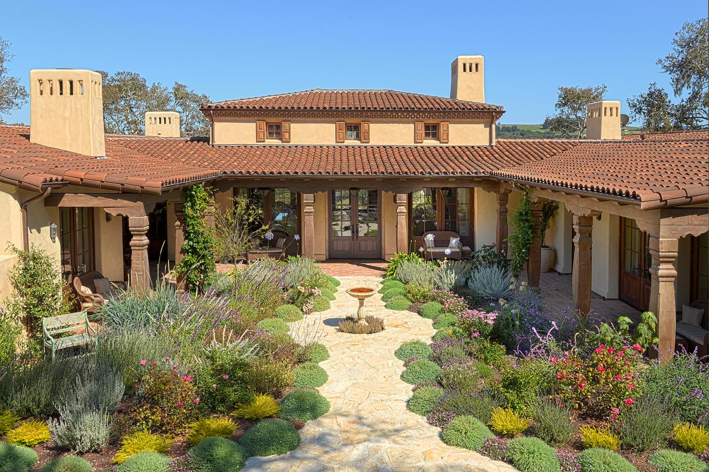 Lovett Residence 5 - Exterior of Hacienda Style Residence.jpg