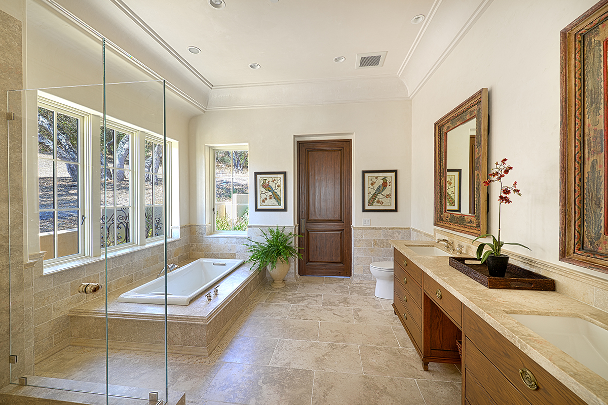 Lovett Residence 17 - Interior, Master Bathroom with Recessed Tub and Roll in Shower.jpg