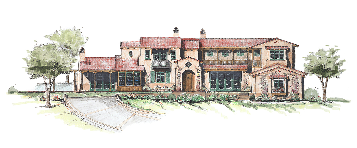 3 Pasadera Court - Residence Rendering of front elevation.JPG