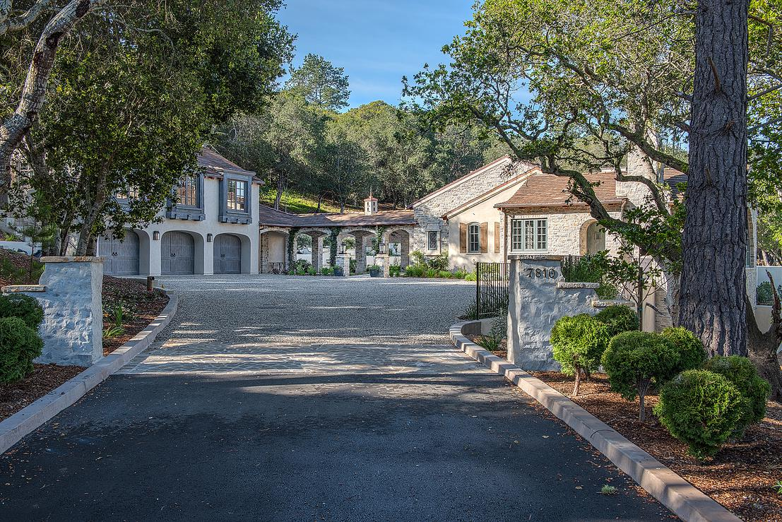 1 Smith Monterra Residence - arrival on gravel driveway to French Country estate.jpg