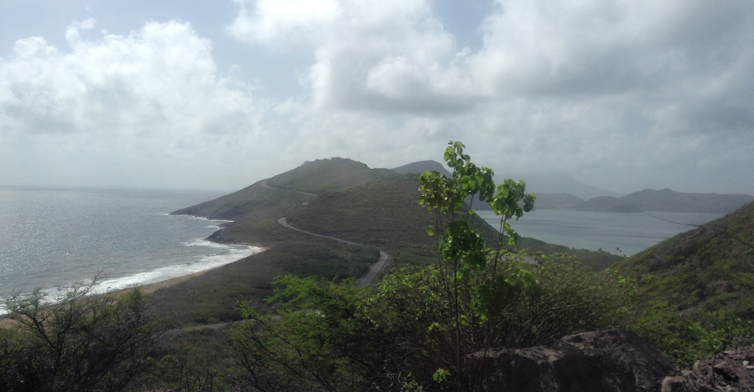 Heading down the spine of St. Kitts