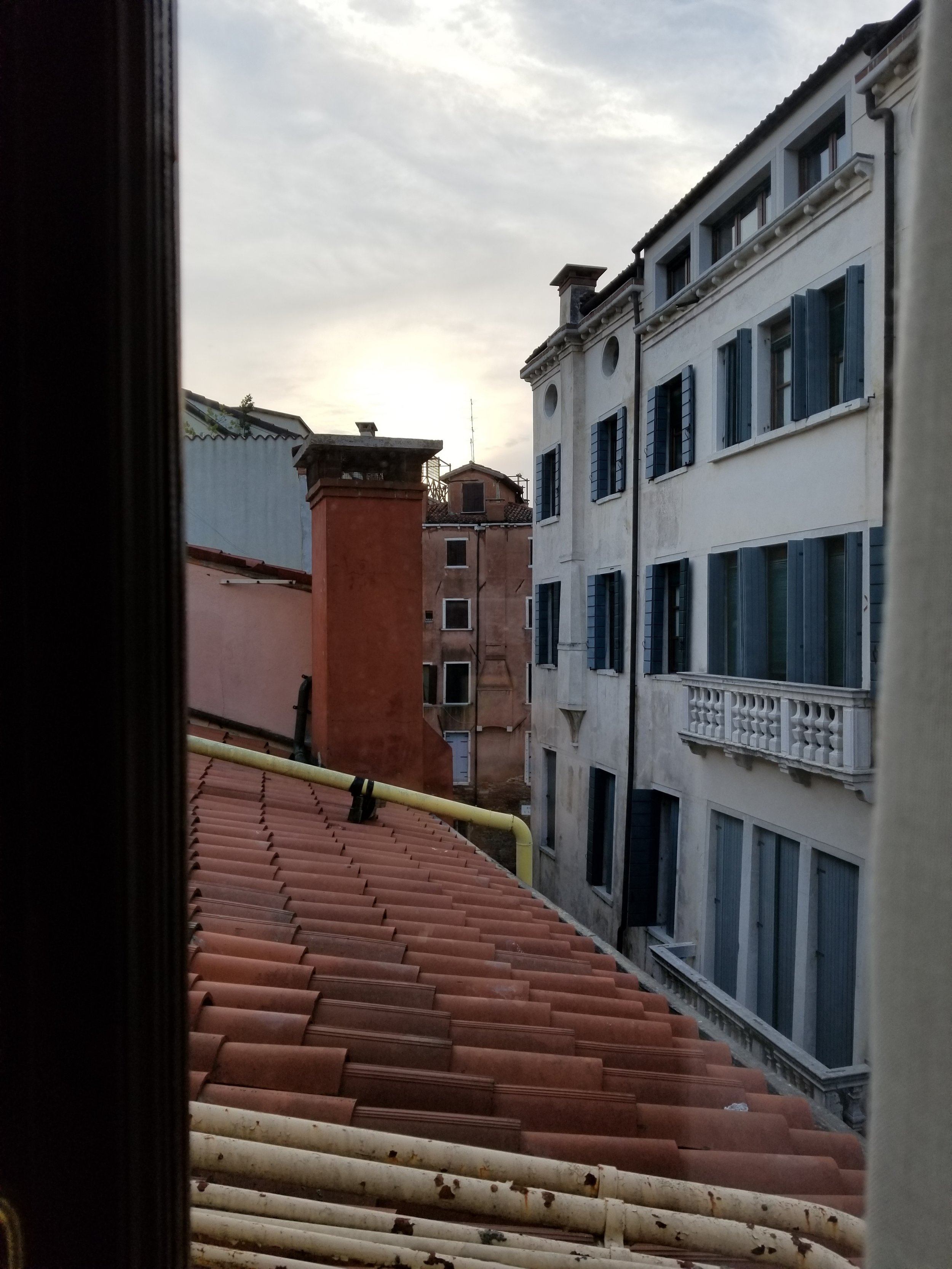 View from one of many windows adorning the standard rooms at Hotel Saturnia