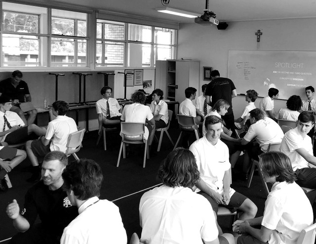 Tomorrow Man workshop at Davidson High School NSW