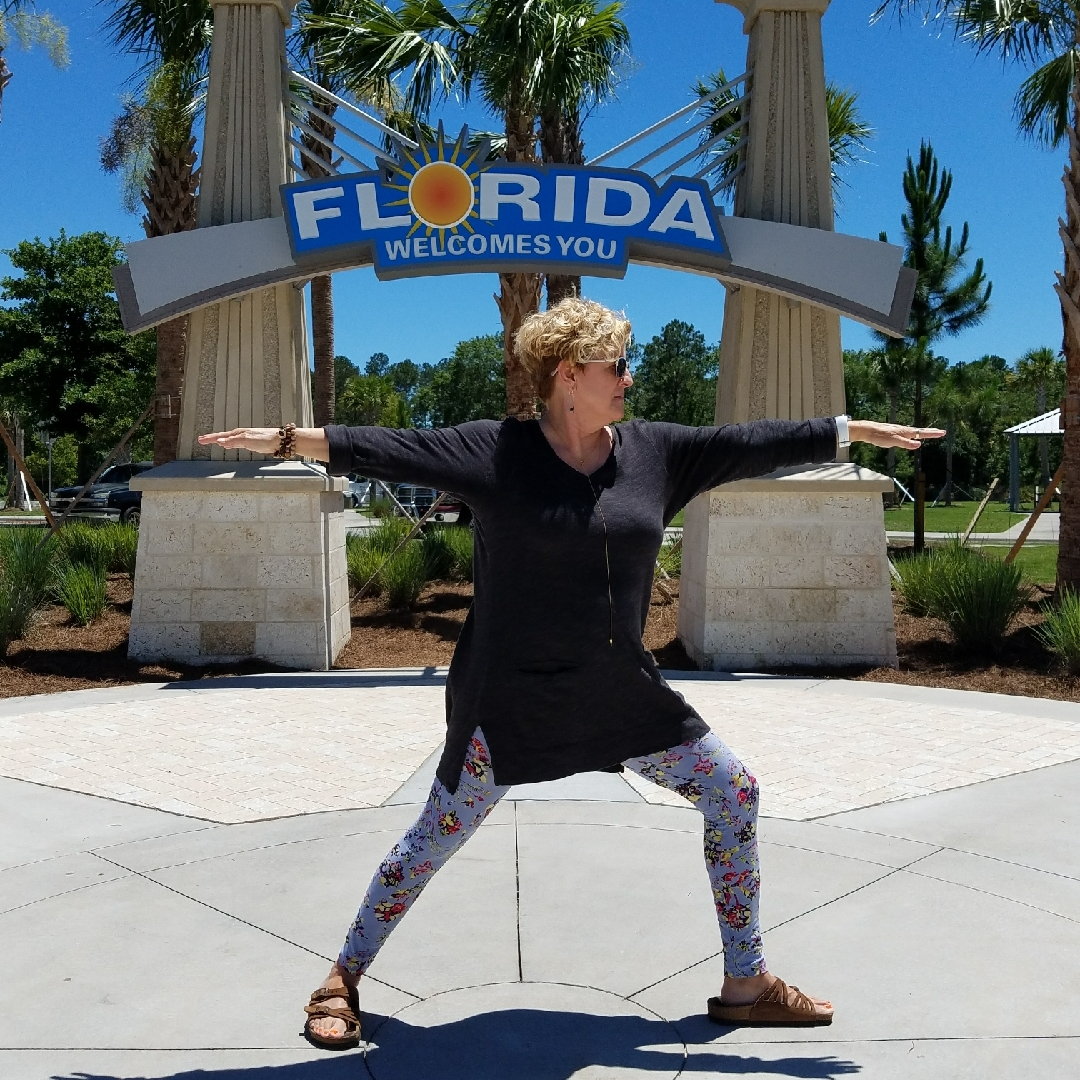 Martha in Warrior Two in Florida this month.