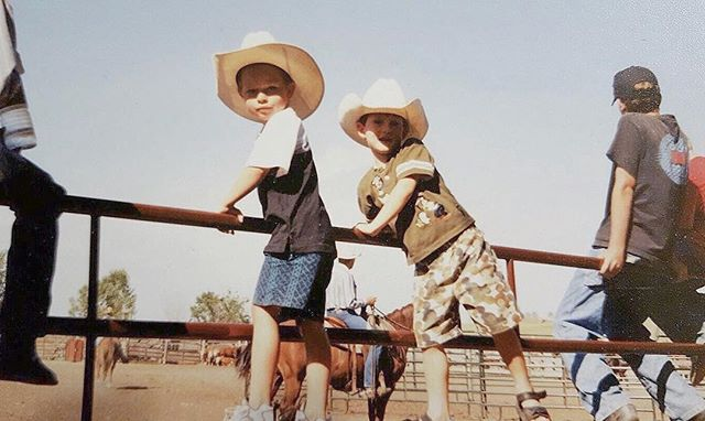 Happy WYO Rodeo Week! ———————————————————————— This is me and my best friend @jrad620. A little fact for y'all, him and I have been each other's best friend since the day we were born. We did everything together, and even now, we live together! ———————————————————————— Another little fact, I used to introduce myself as John Wayne, because all I ever wanted to be was a cowboy 🤠 ———————————————————————— See ya @ the street dance tonight, where the beer is cold and the population is doubled!