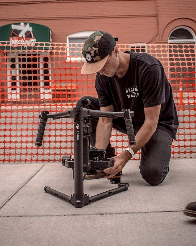 Candid shots of Josh are easy cause he's the most beautiful little thumb I ever did see. ————————————————————————Here he is balancing out his @djiglobal ronin right before the stunt show. Can't wait to see the footage bro, you kill it.