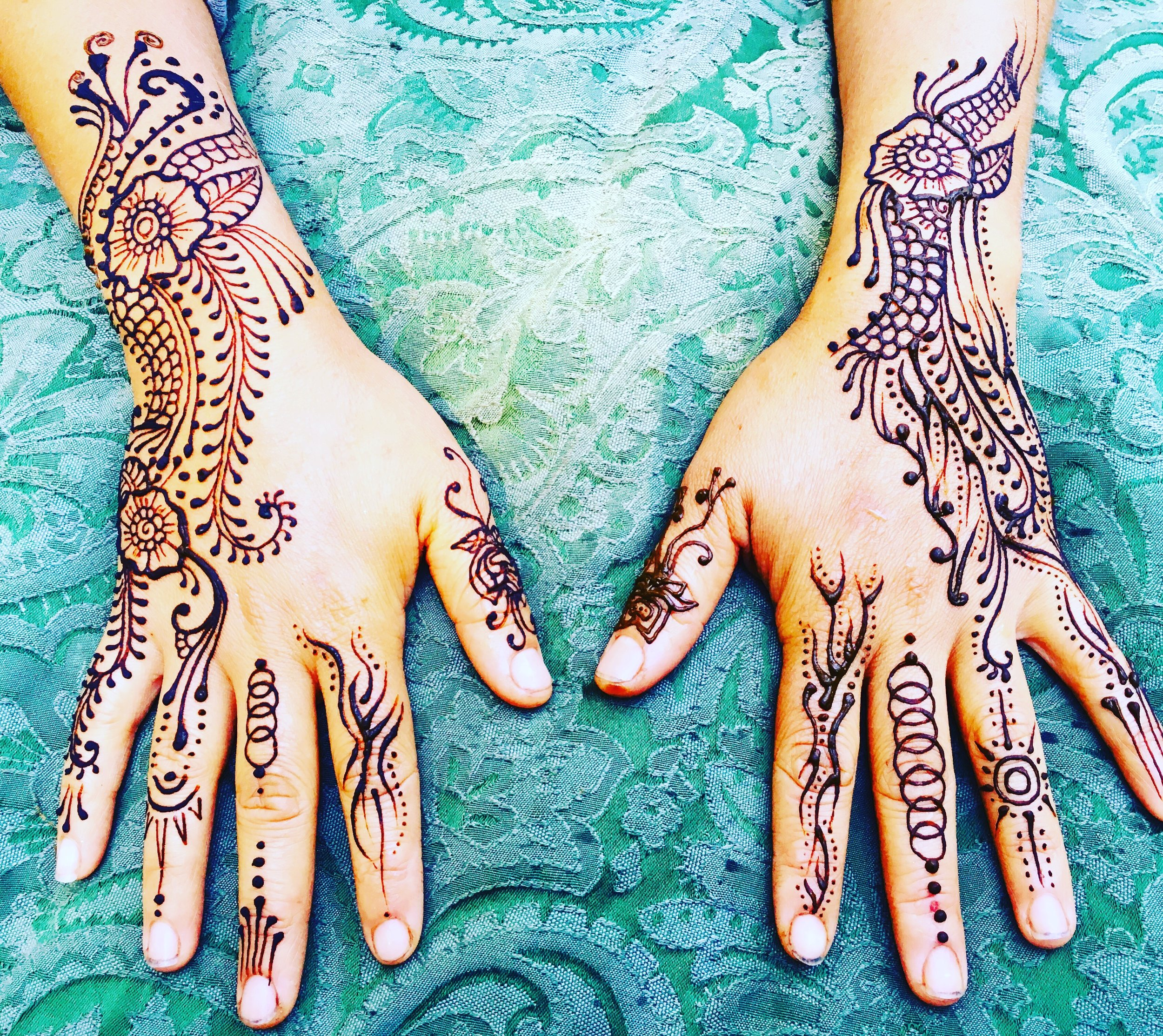 HENNA PARTIES - A great and unique way to celebrate any birthday or special event. A lasting gift for guests to bring home. Henna is a great party favor that will last for upto 2 weeks! Mystic Henna brings several design books to choose from and create custom designs for guests.