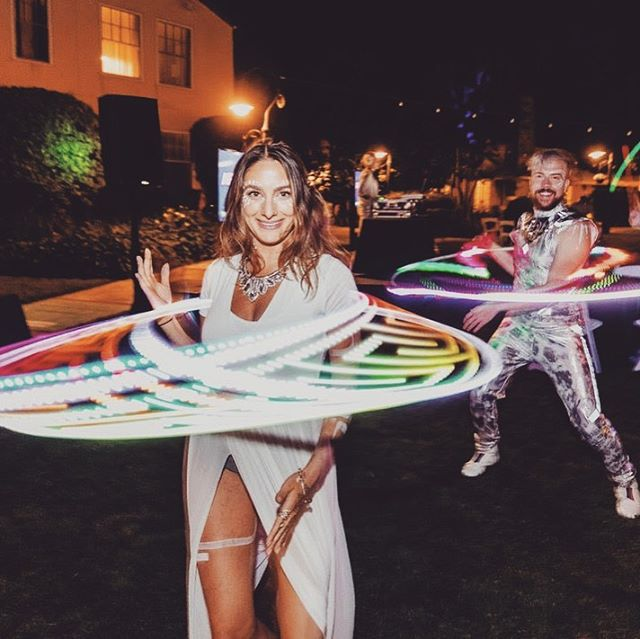 @whatsthedilly and I - sharing that hoop love with the CEO's and CMO's At @mmaglobal annual summit in Sonoma! Such a fun event. We had LED toys for everyone to play with and had the ultimate dance party 😂 . . . . . . . . #evententertainment #corporateevent #ledentertainment #hoop #ledhoop #showmeyourtrails #dowhatyoulove #losangelesentertainment