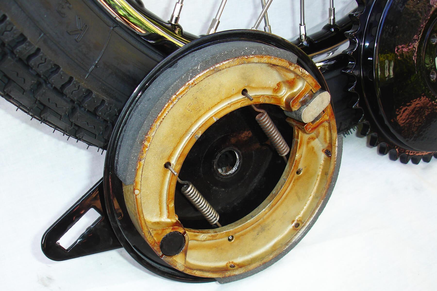 Matchless rear brake.