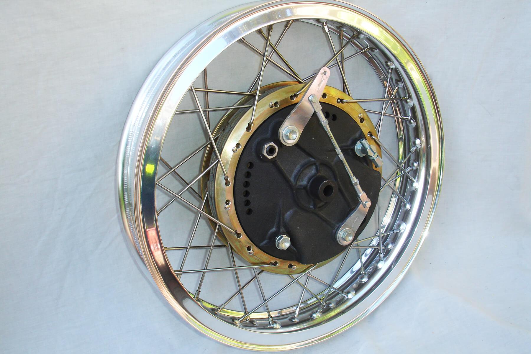 Large diameter brake drum.